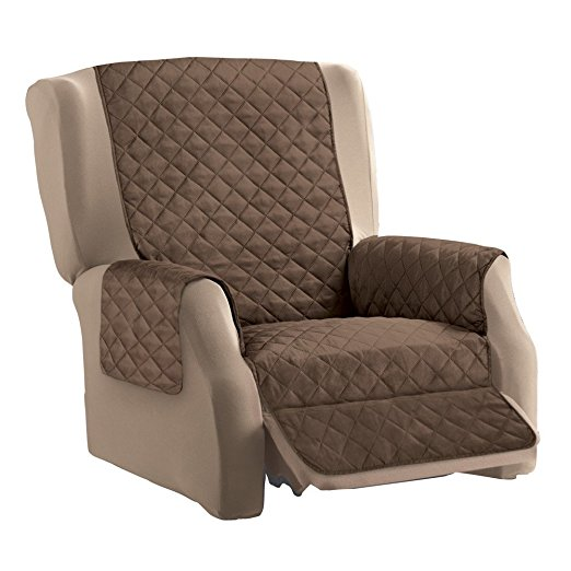 patio chair covers at walmart hula for sale reversible quilted furniture cover, chocolate/tan, recliner - walmart.com