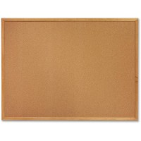 "Sparco Cork Bulletin Board, 18"" x 24"", Oak Wood Frame ..."