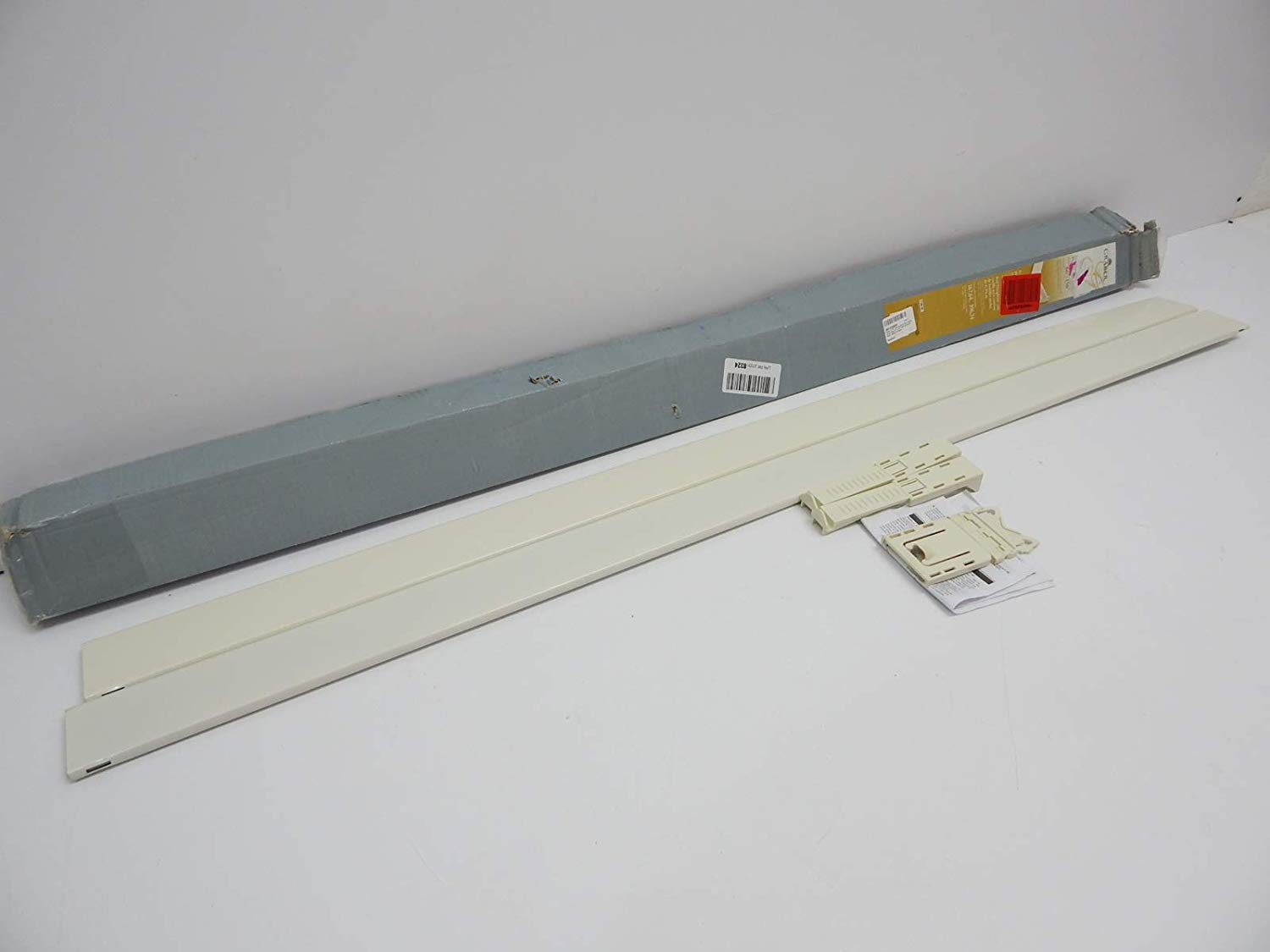 graber 2 1 2 inch dauphine wide pocket curtain rod 66 to 156 inch adjustable width white