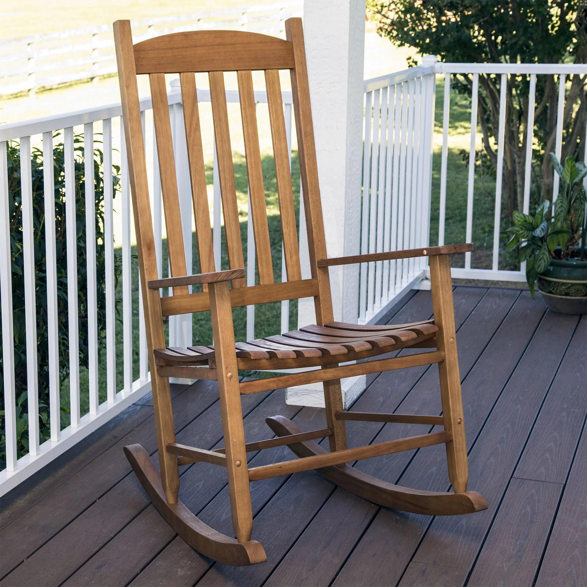 Mainstays Outdoor Wood Slat Rocking Chair  Walmartcom