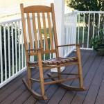Mainstays Outdoor Wood Slat Rocking Chair Walmart Com Walmart Com