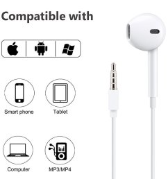 apple iphone 5 iphone 5s iphone 5c earpods with remote and mic 3 5mm md827ll a walmart com [ 1100 x 1100 Pixel ]