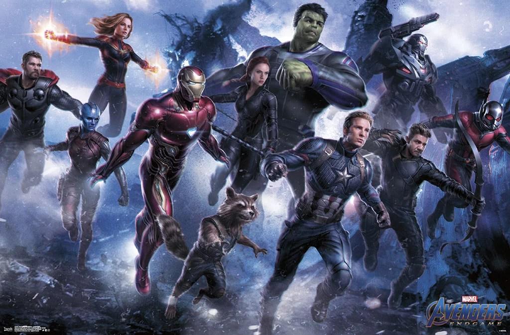 avengers endgame wall poster 22 4 x 34