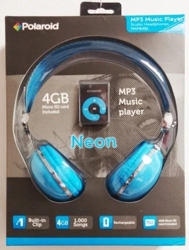 Polaroid Headphones With 4gb Mp3 Player Bundle Blue Walmart Com Walmart Com