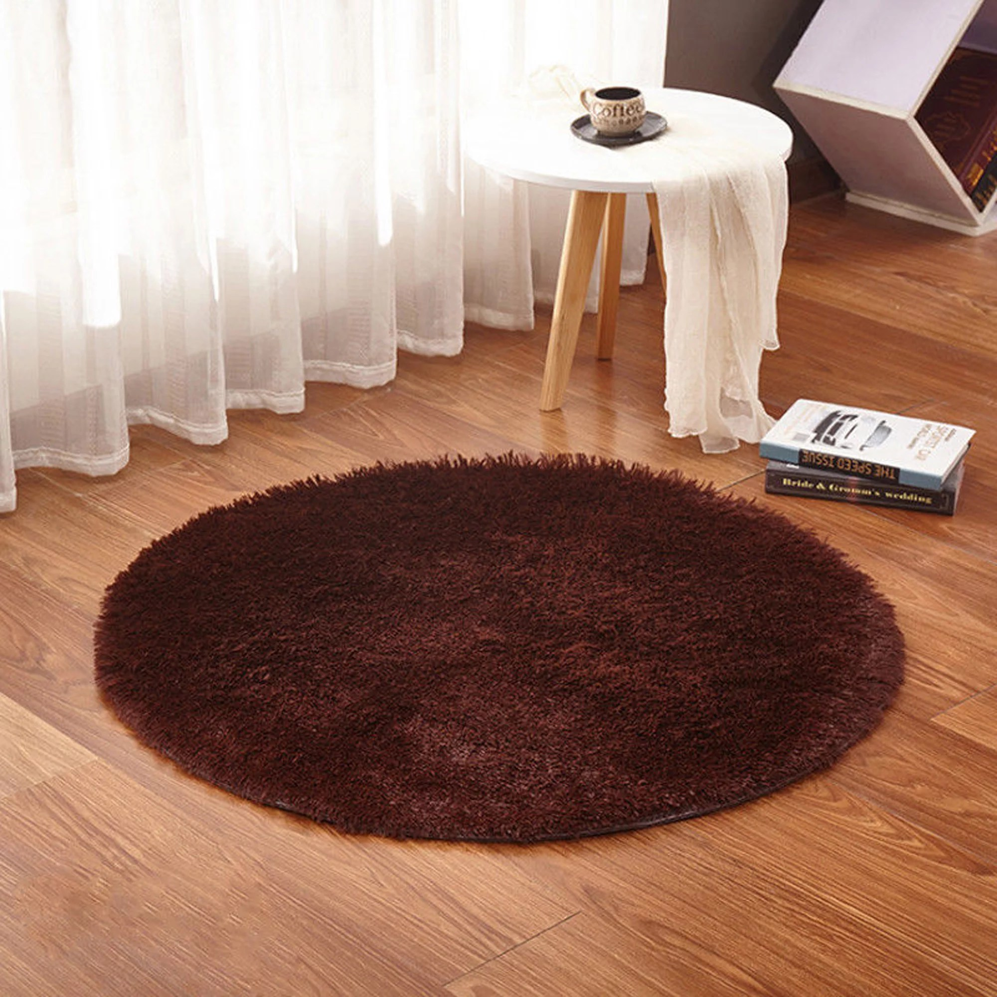 round area rug in living room oriental design nk home luxury rugs super soft bedroom carpet children playing mat diameter 3 feet walmart com