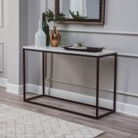 Belham Living Sorenson Rectangle Console Table with Marble ...