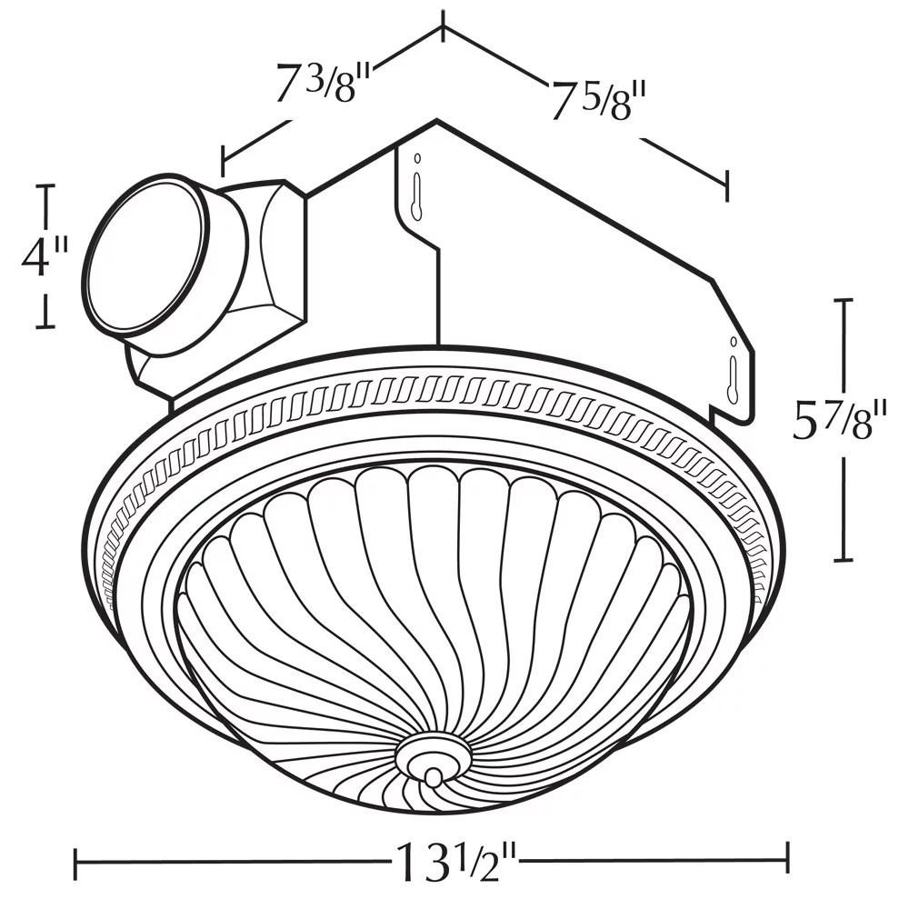Air king drlc702 decorative round exhaust fan light bo 2 60 w 120 v 1 6 a 70 cfm walmart