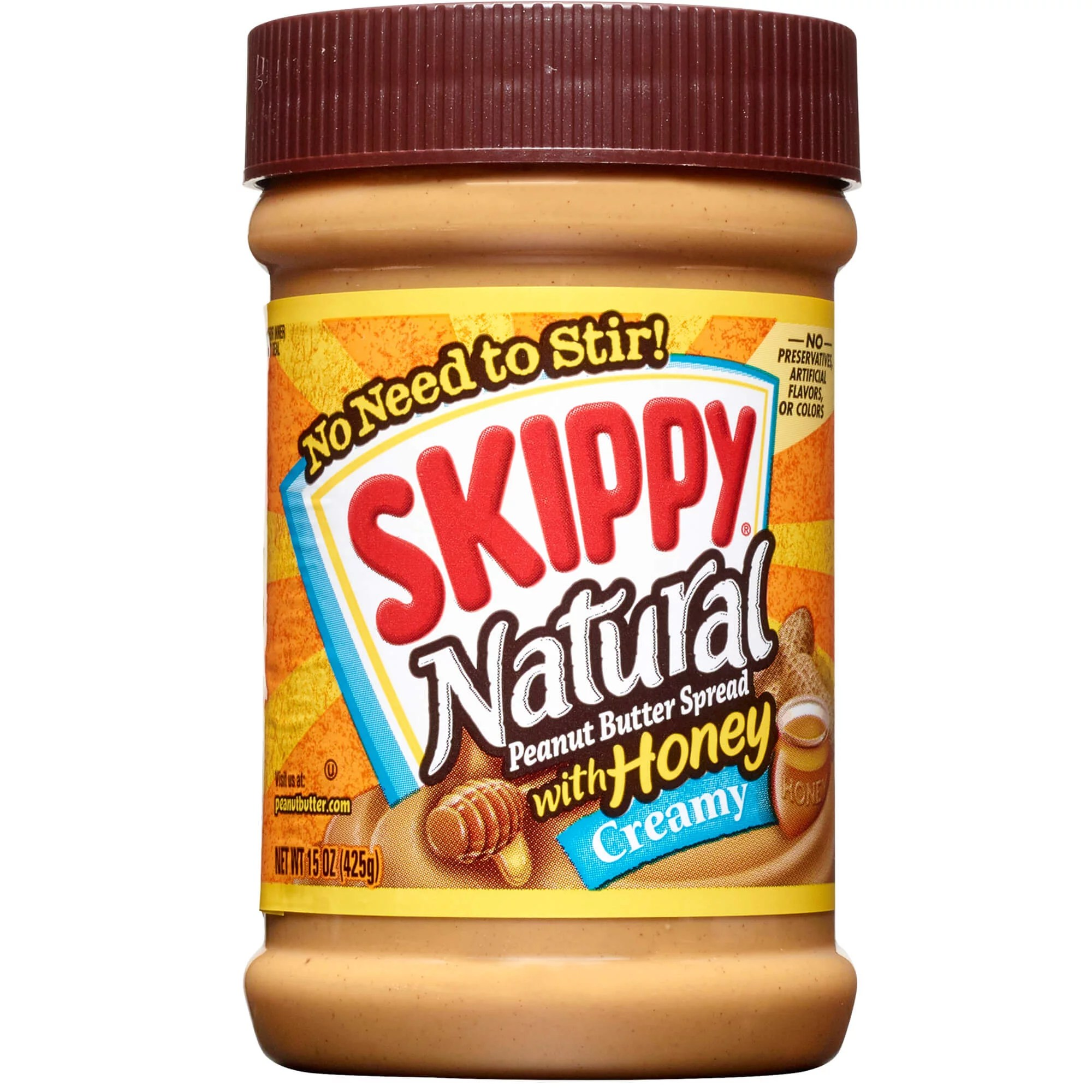 Skippy Natural Creamy Peanut Butter Spread with Honey 15 ...