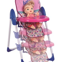 Baby Alive High Chair Vintage Womb For Sale Doll Deluxe Highchair Walmart Com