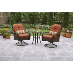 Patio Chairs For Cheap Chair Stool Small Better Homes And Gardens Azalea Ridge 3 Piece Outdoor Bistro Set Walmart Com