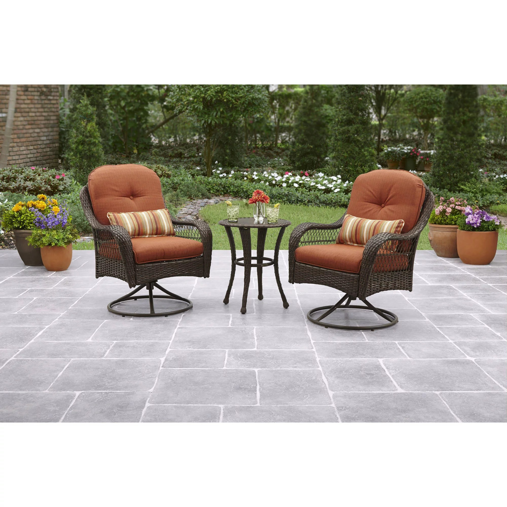 Metal Bistro Table And Chairs Better Homes And Gardens Azalea Ridge 3 Piece Outdoor Bistro Set