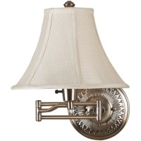 Kenroy Home Amherst Wall Swing Arm Lamp, Bronzed Brass ...