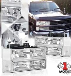 chrome housing headlight signal corner bumper for 88 93 chevy c10 pickup truck 89 90 91 92 walmart com [ 1000 x 1000 Pixel ]