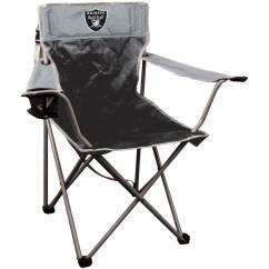 Oakland Raiders Chair Fold Up Chairs Costco Nfl Halftime Quad By Rawlings Walmart Com