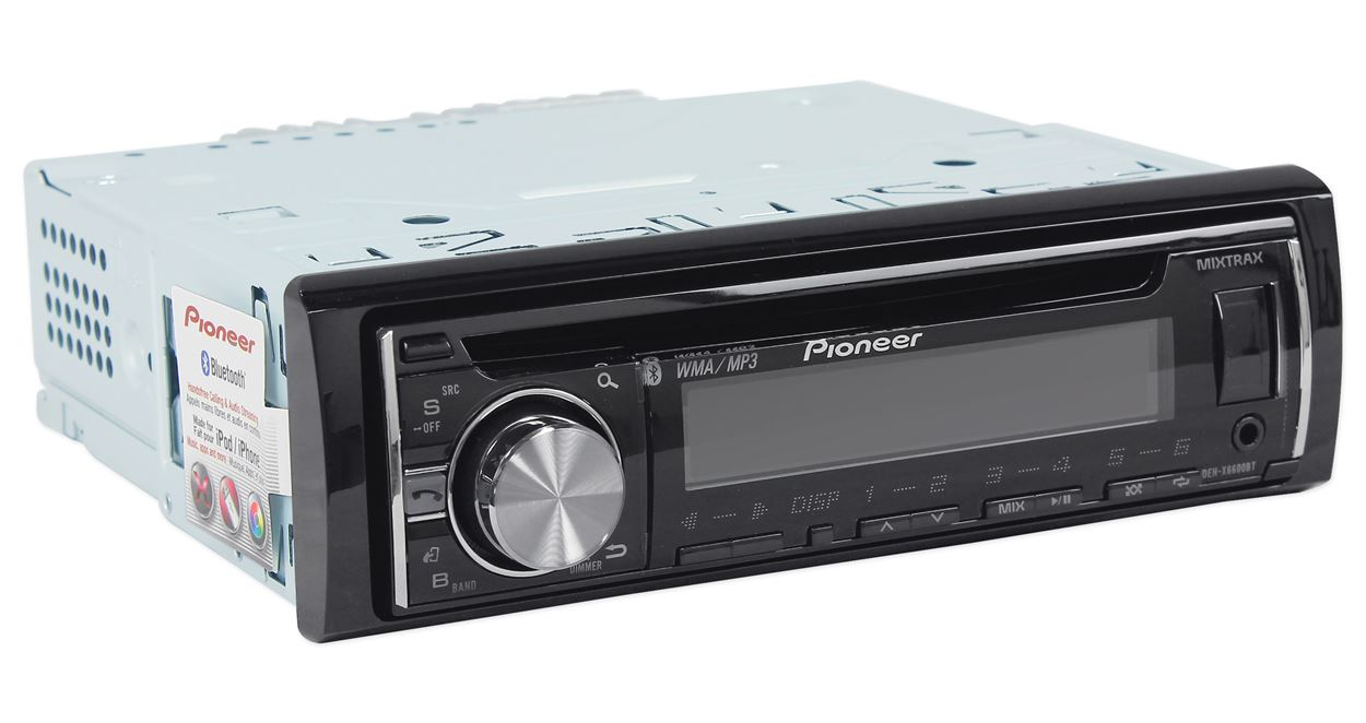 hight resolution of pioneer deh x6600bt cd receiver with mixtrax bluetooth android media access 2 sets rcas walmart com