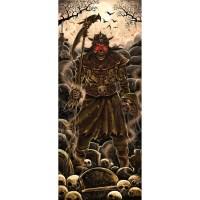 Lights and Sounds Halloween Door Panel, Skeleton Warrior ...