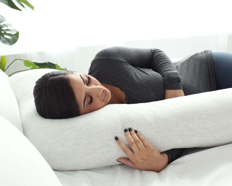 pharmedoc full body pregnancy pillow u shaped body pillow maternity pillow for pregnant women w detachable extension