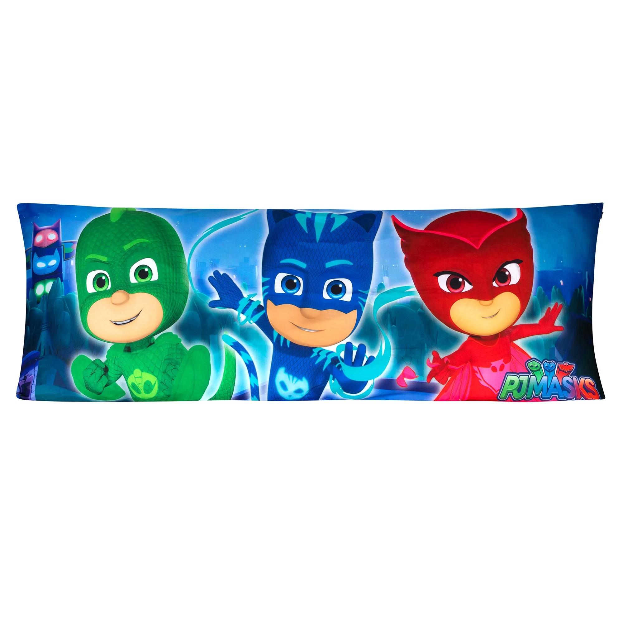 pj masks body pillow cover with zipper kids bedding 20 x54 walmart com