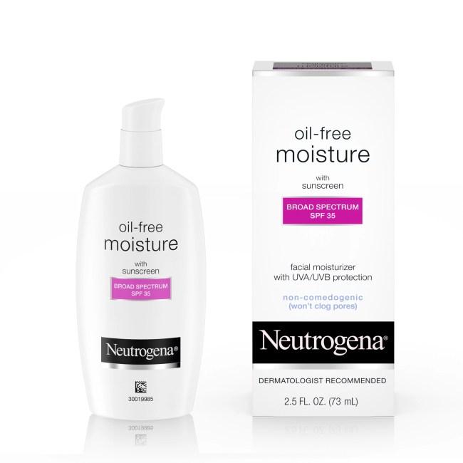 Neutrogena Oil-Free Moisture With Broad Spectrum Spf 35 Sunscreen, 2.5 Fl. Oz.