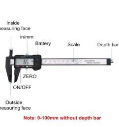 moaere electronic digital vernier caliper advanced onsite sensor absolute scale digital caliper 0 0005 0 01mm resolution lcd walmart com [ 1200 x 1200 Pixel ]