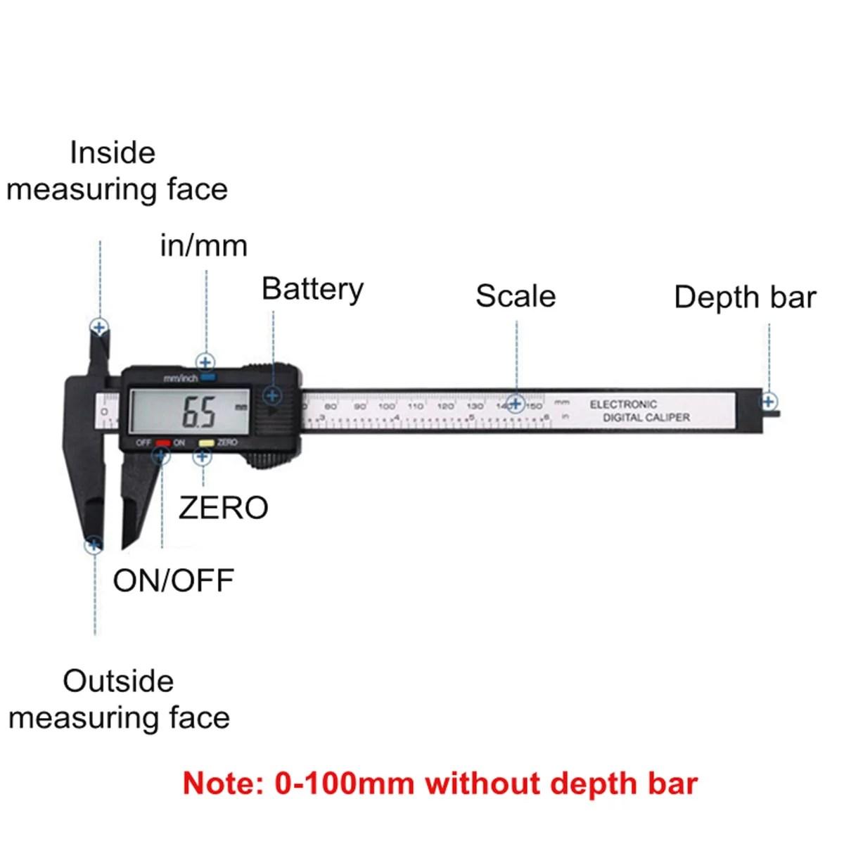 hight resolution of moaere electronic digital vernier caliper advanced onsite sensor absolute scale digital caliper 0 0005 0 01mm resolution lcd walmart com