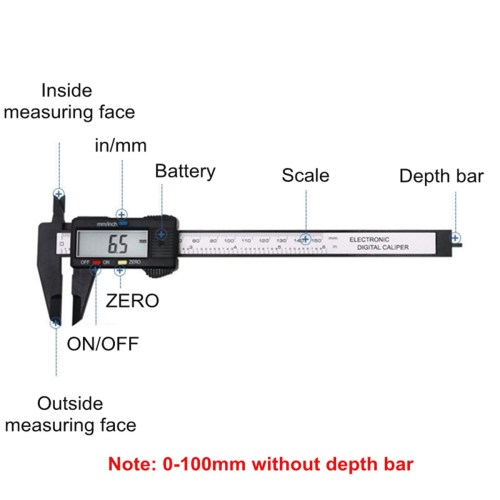 small resolution of moaere electronic digital vernier caliper advanced onsite sensor absolute scale digital caliper 0 0005 0 01mm resolution lcd walmart com