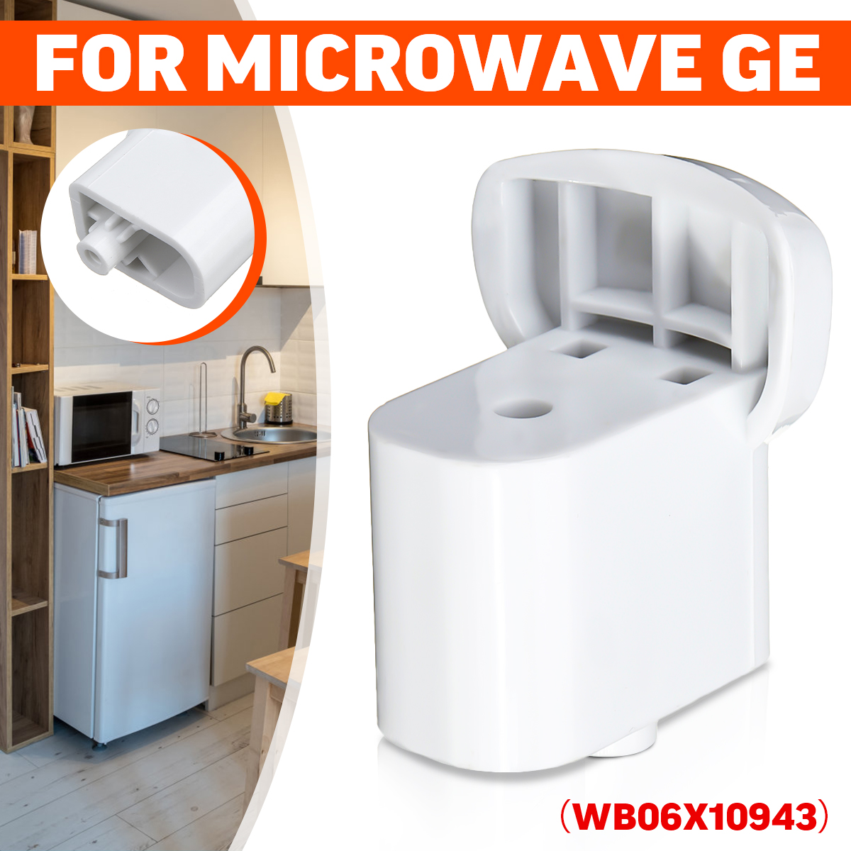 door handle support accessories white for ge microwave wb06x10943 ap5790057 walmart com