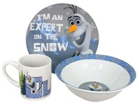 Disney Frozen Snow Expert 3-Piece Dinnerware Set Multi ...