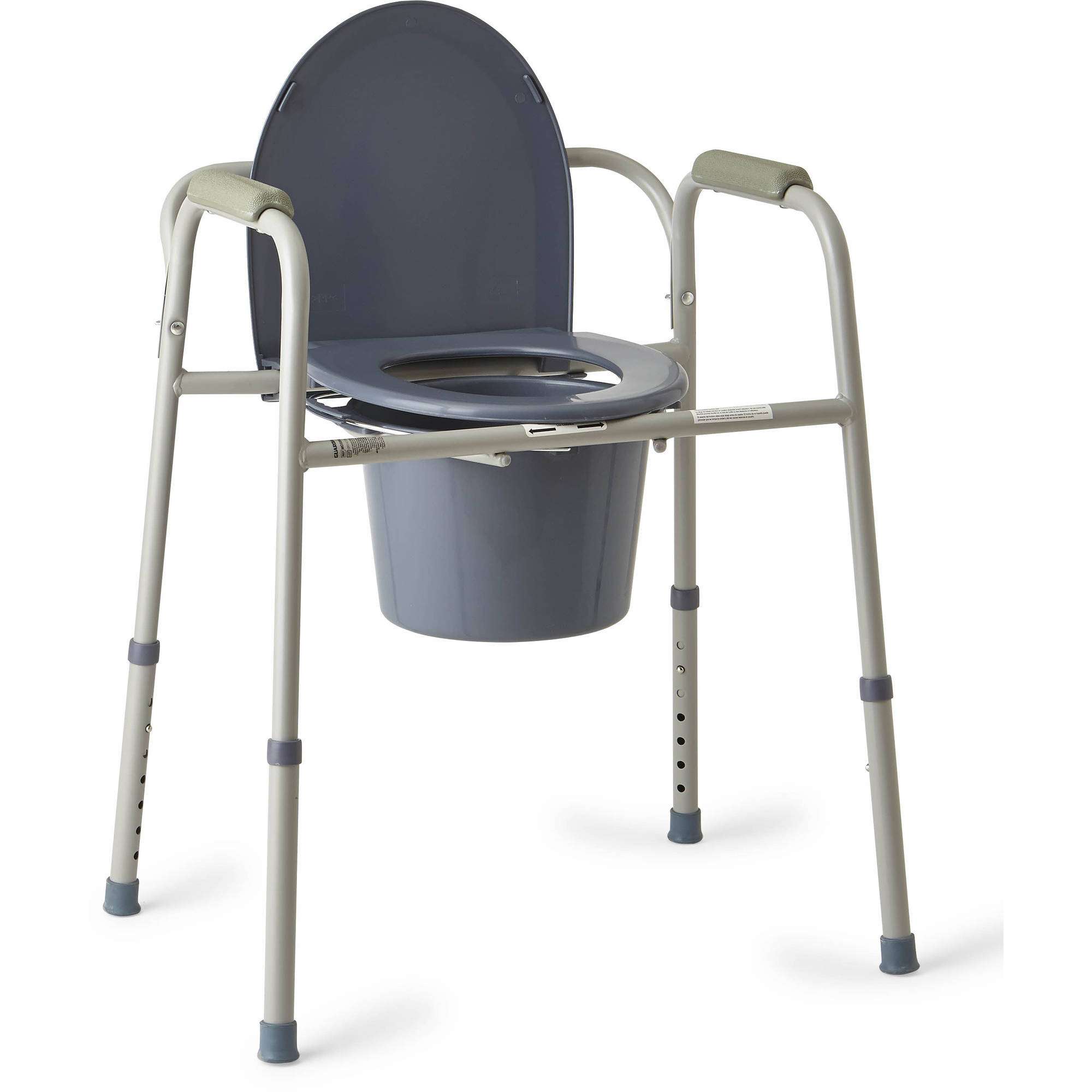 Bedside Commode Chair Medline Steel 3 In 1 Bedside Toilet Commode