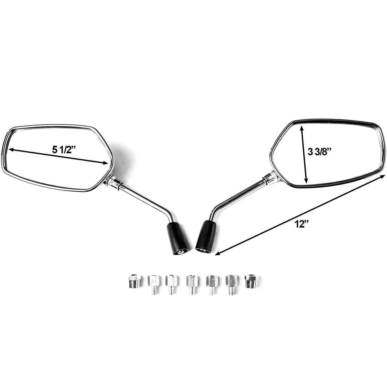 hight resolution of krator universal chrome motorcycle mirrors for suzuki boulevard m109r m50 m90 m95