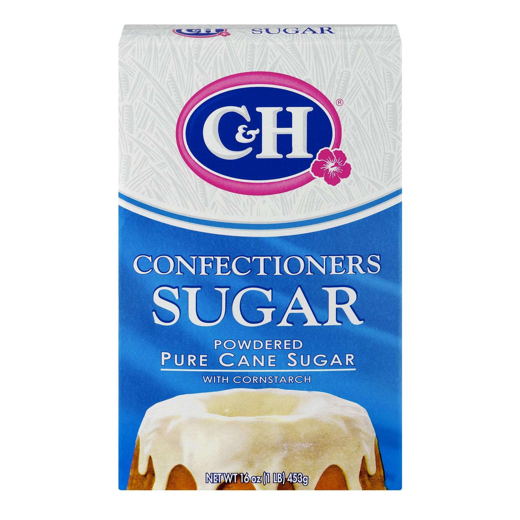 (5 Pack) C&H Pure Cane Sugar Confectioners Powdered 1 lb Box - Walmart.com - Walmart.com