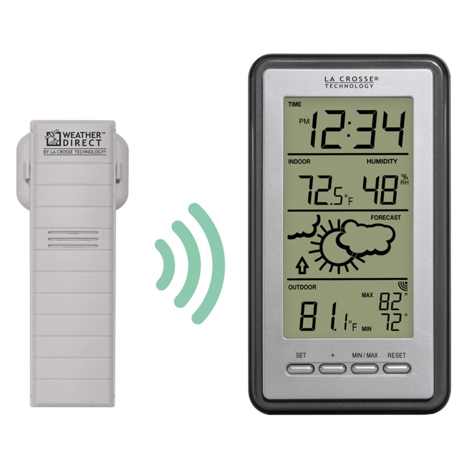 lacrosse technology led indoor outdoor thermometer