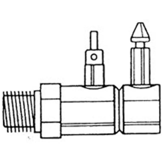 US Hardware M-200C Fuel Line Connector, 1/4 in MNPT, Brass