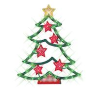 NorthLight 18 inch Lighted Christmas Tree With Stars ...