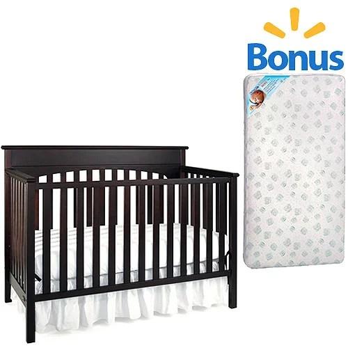 Graco Lauren 4 In 1 Crib Kolcraft Toddler Baby Mattress Bundle Your Choice Of Finish