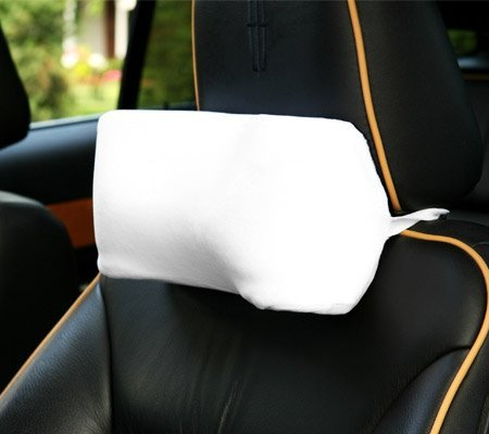 deluxecomfort deluxe comfort memory foam car neck pillow 100 microsuede travel pillow retains heat to alleviate tension muscles travel