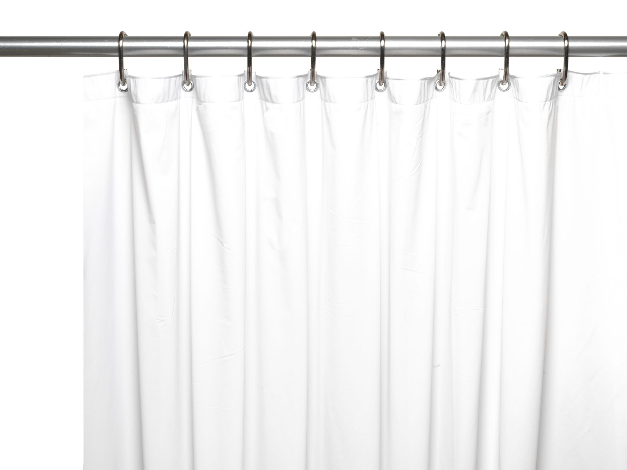 hotel collection premium heavy duty vinyl shower curtain liner with metal grommets white