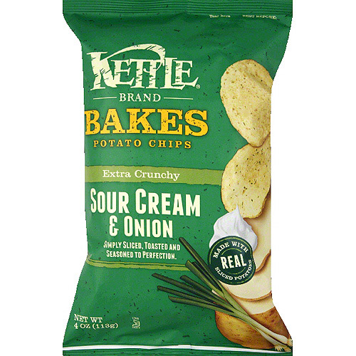 Kettle Brand Bakes Sour Cream Onion Potato Chips 4 oz
