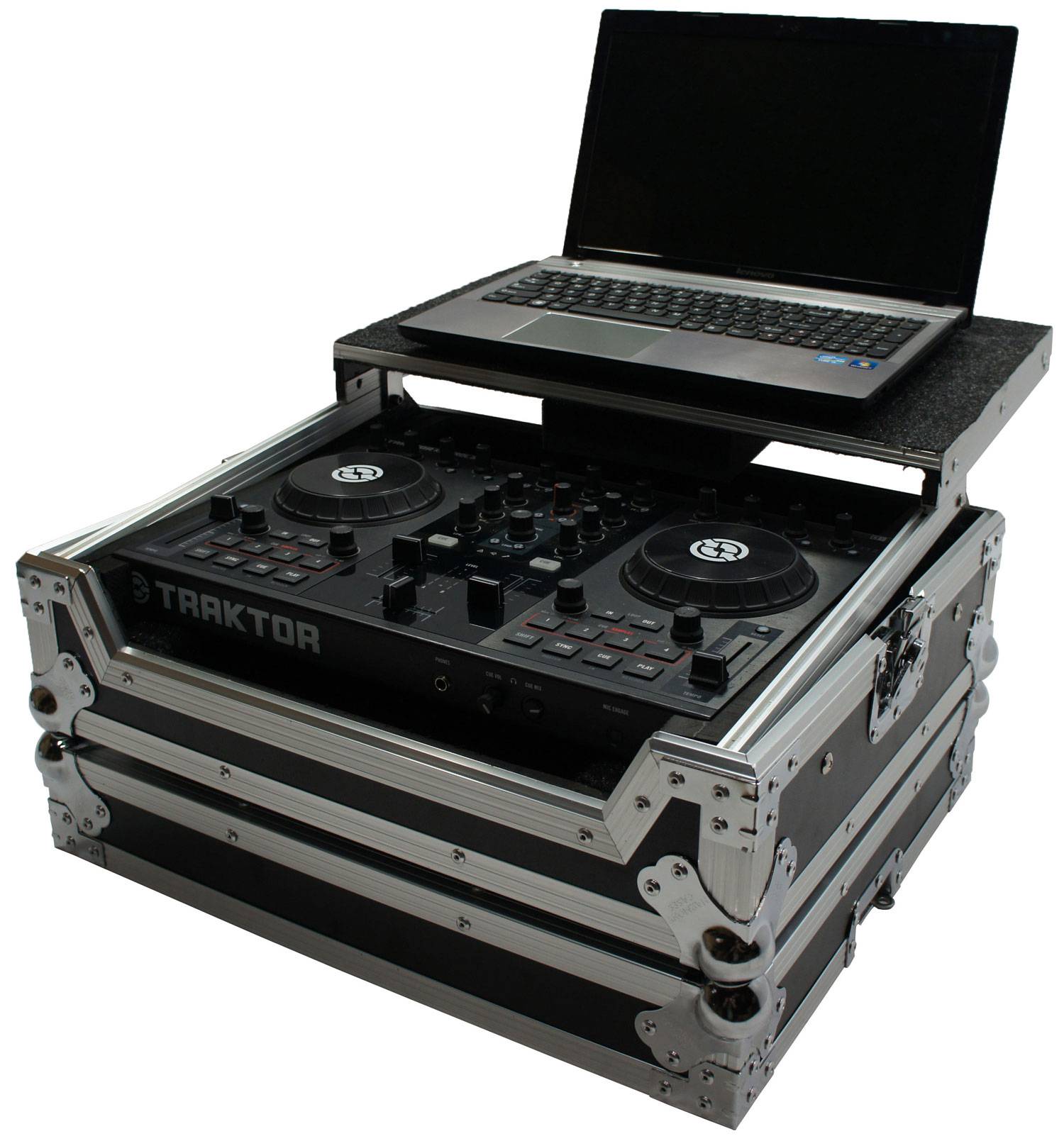 hight resolution of harmony hctks2lt flight ready glide laptop stand dj case traktor kontrol s2 mk2 walmart com