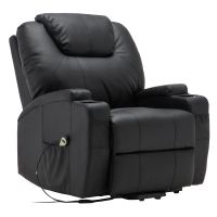 Costway Electric Lift Power Recliner Chair Heated Massage ...