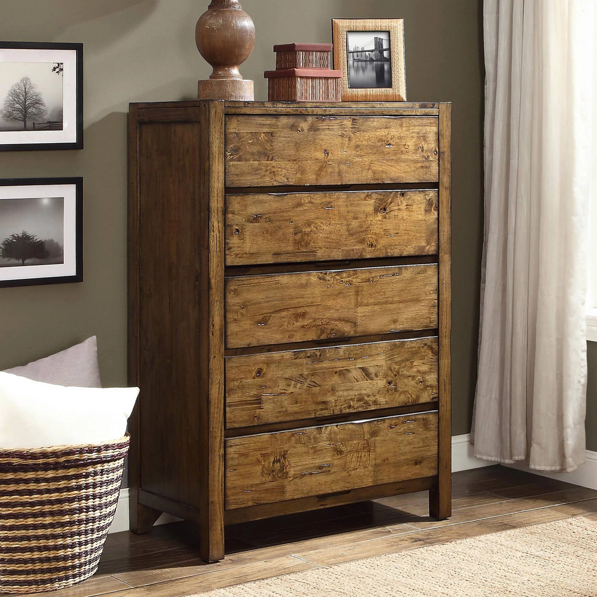 better homes and gardens bryant 5 drawer dresser rustic brown finish