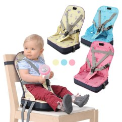 Cloth Portable High Chair Leap Office Chairs Toddler Foldable Booster Seat Dining Feeding Baby With Harness Safety
