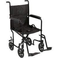 Drive Medical Lightweight Black Transport Wheelchair