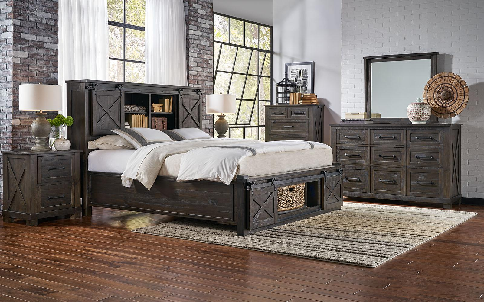 rustic king rotating storage bedroom set 5pcs suvcl5133 a america sun valley