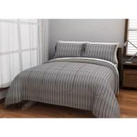 American Original Solid Grey Corduroy Complete Bedding Set ...