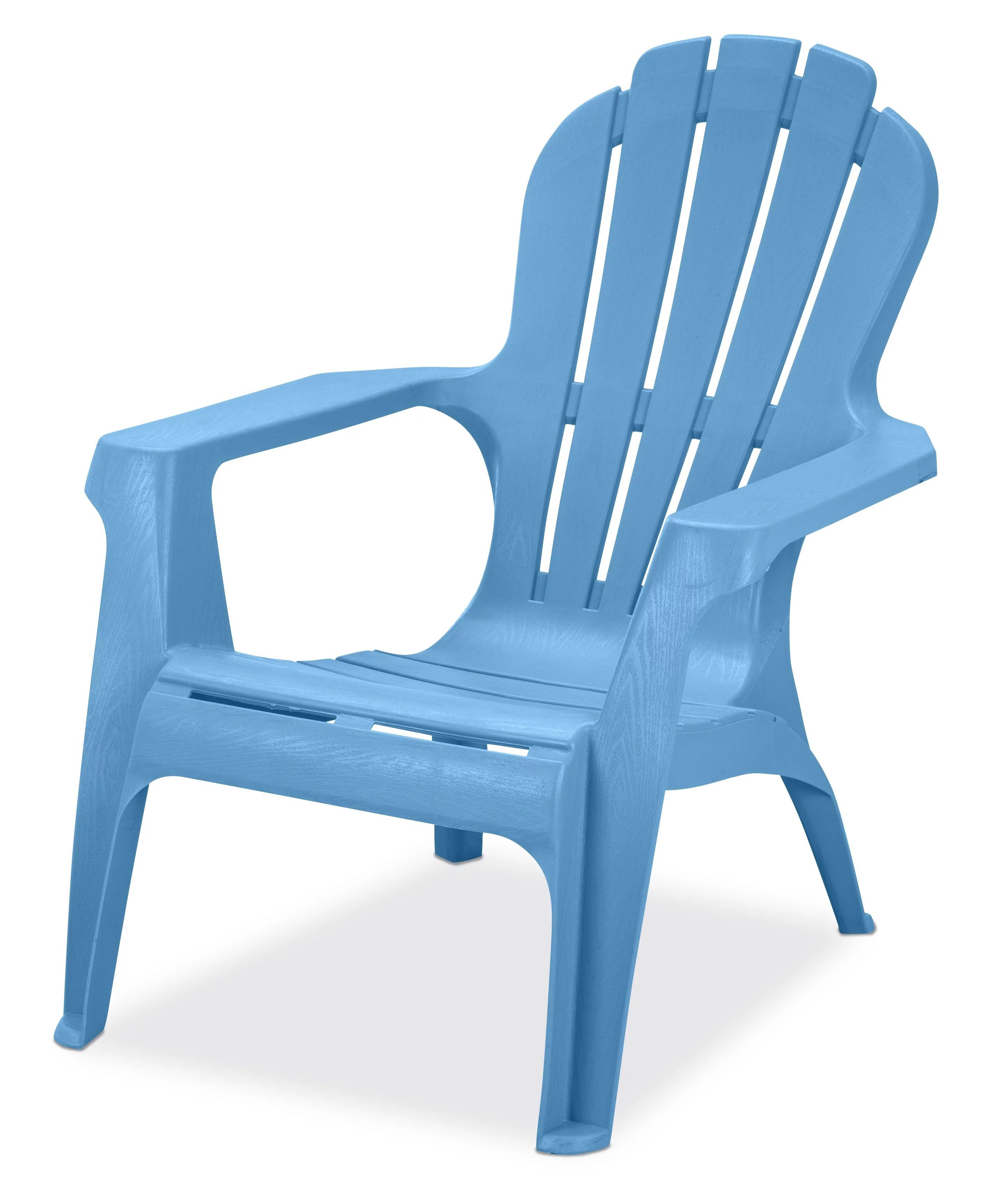 us leisure resin adirondack plastic patio furniture chair blue