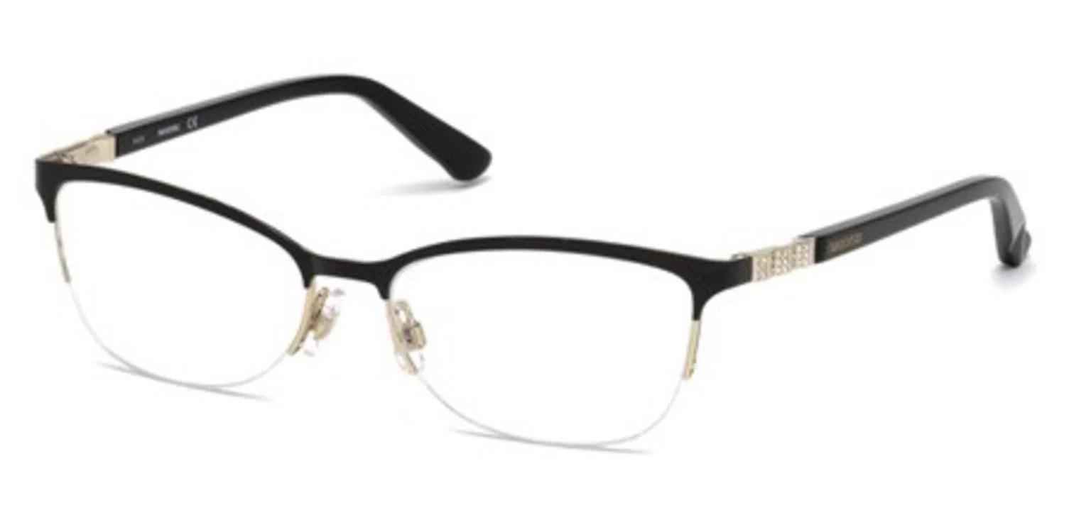 Daniel Swarovski Eyeglasses Good SW5169 SW/5169 001 Black ...