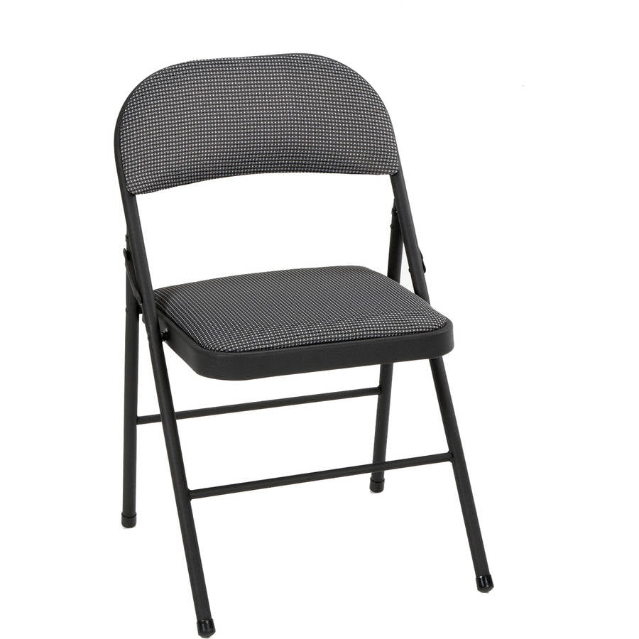 best folding chair personalized kids mainstays fabric black walmart com