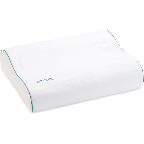 iso cool visco elastic contour bed pillow with outlast cover
