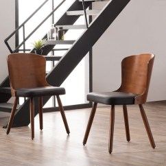Bamboo Dining Chair High Table And Set Outdoor Corvus Calvados Mid Century Modern Of 2 Walmart Com